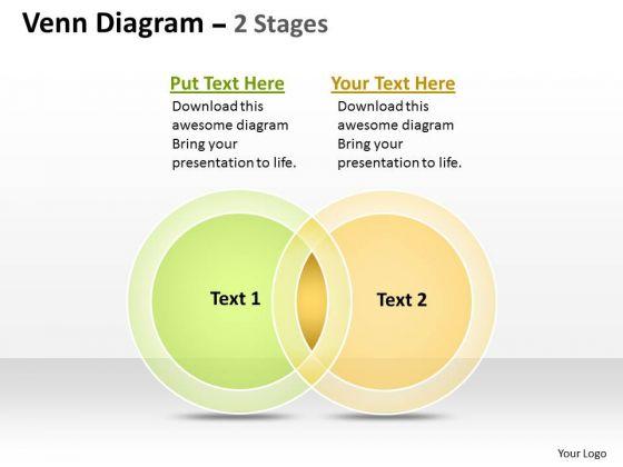 Business Cycle Diagram Venn Diagram Stages 2 Sales Diagram
