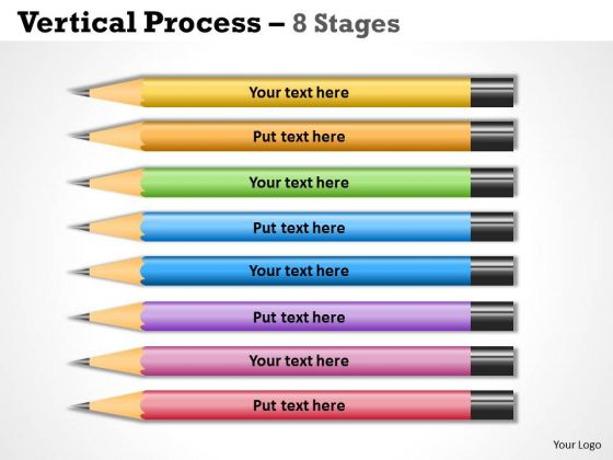 Business Cycle Diagram Vertical Process 8 Stages Sales Diagram