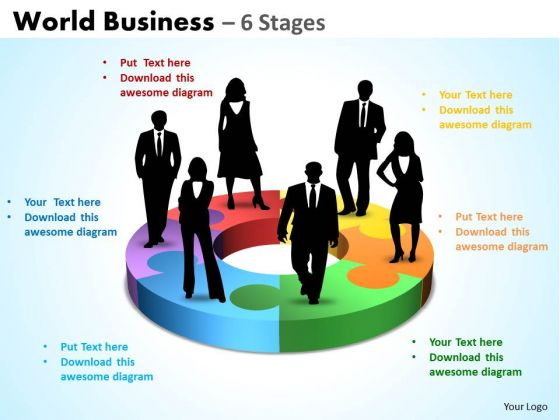 Business Cycle Diagram World Business 6 Stages Consulting Diagram