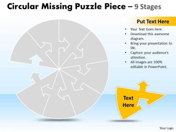 Business Dagram Circular Missing Puzzle Piece 9 Stages Business Framework Model