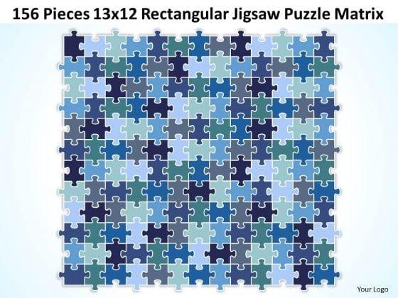 Business Diagram 156 Pieces 13x12 Rectangular Jigsaw Puzzle Matrix Sales Diagram