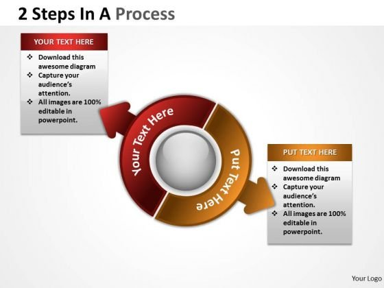 Business Diagram 2 Steps In A Process 1