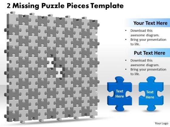 Business Diagram 3d 10x10 Missing Puzzle Piece Strategic Management