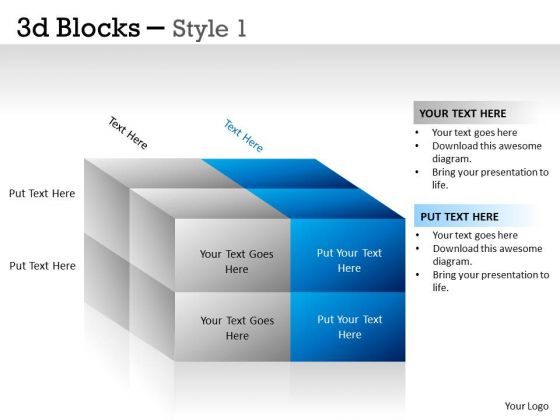 Business Diagram 3d Blocks Style Consulting Diagram