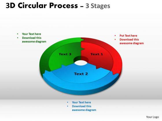 Business Diagram 3d Circular Process Cycle Diagram Chart 3 Ppt Templates Sales Diagram