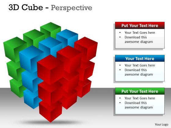 Business Diagram 3d Cube Perspective Ppt 3 Sales Diagram