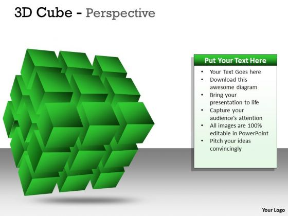 Business Diagram 3d Cube Perspective Ppt Business Cycle Diagram