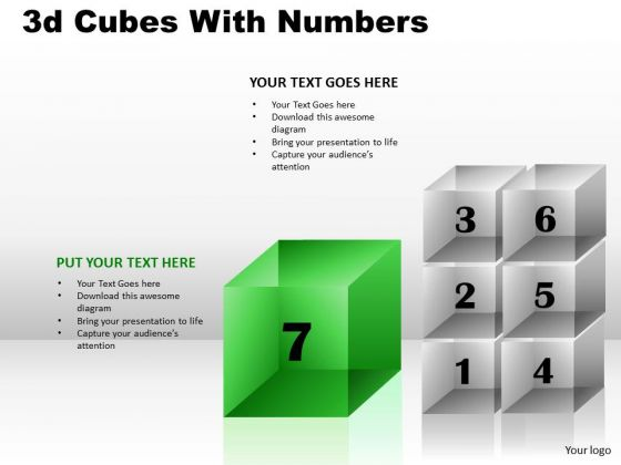 Business Diagram 3d Cubes With Numbers Marketing Diagram