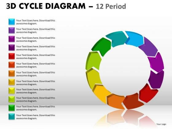 Business Diagram 3d Cycle Diagram Marketing Diagram