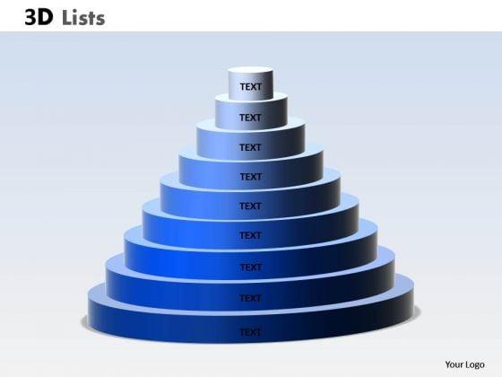 Business Diagram 3d List Circular Diagram For Business Sales Diagram