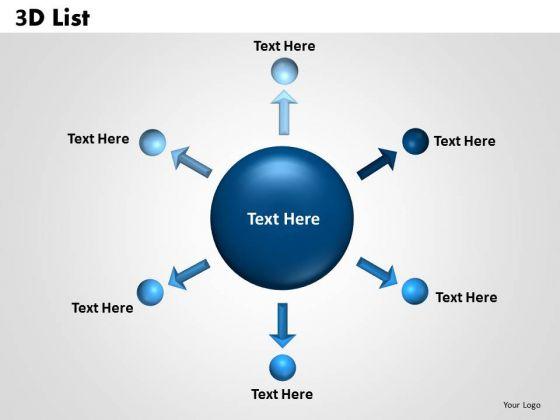 Business Diagram 3d List Circular Diagram Sales Diagram