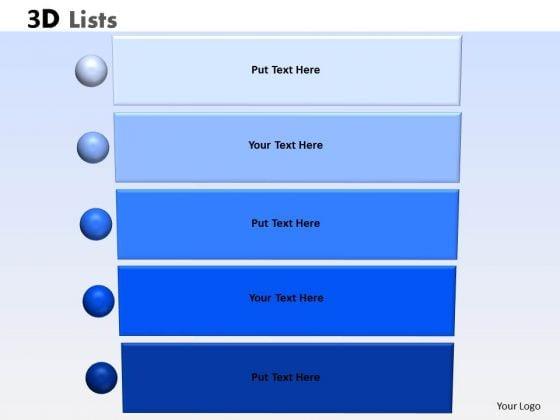Business Diagram 3d List Graphics Consulting Diagram