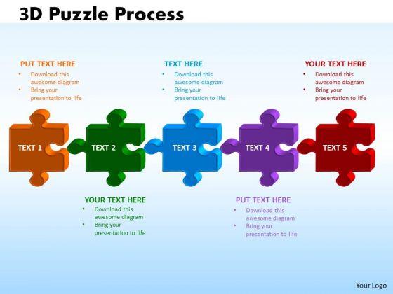 Business Diagram 3d Puzzle Process Business Cycle Diagram