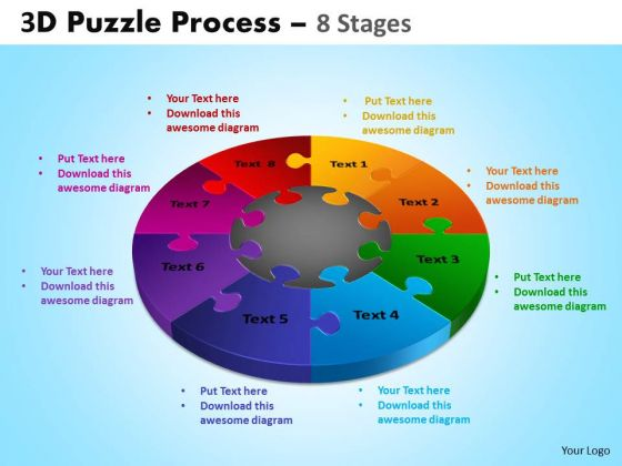 Business Diagram 3d Puzzle Process Diagram 8 Stages Mba Models And Frameworks