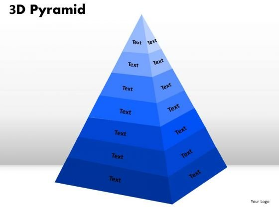 Business Diagram 3d Pyramid 7 Stages With Process Flow Marketing Diagram