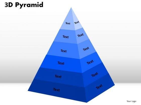 Business Diagram 3d Pyramid Shape For Business Process Sales Diagram