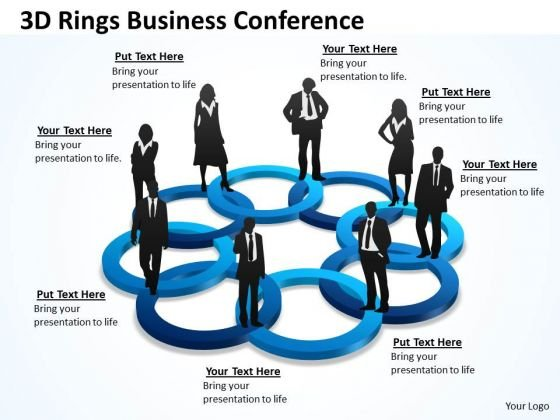 Business Diagram 3d Rings Business Conference Marketing Diagram