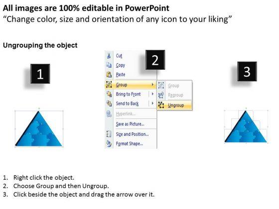 business_diagram_3d_triangle_puzzle_process_6_pieces_strategic_management_2
