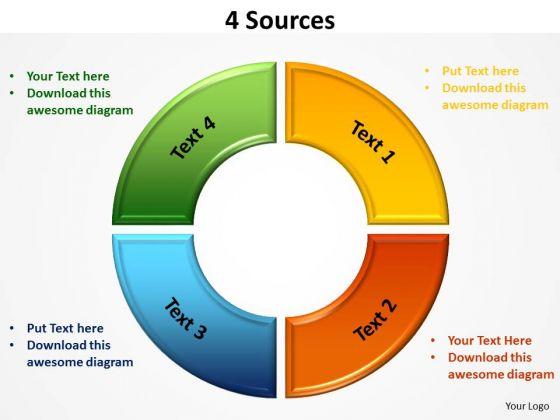 Business Diagram 4 Sources Sales Diagram