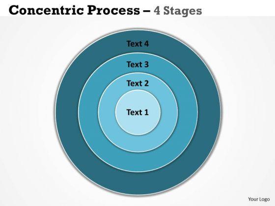 Business Diagram 4 Staged Concentric Business Diagram Sales Diagram