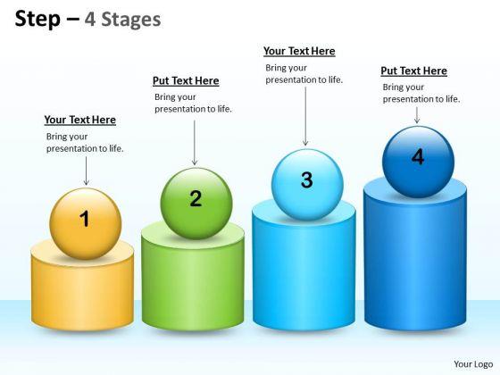 Business Diagram 4 Steps Of Business Process Sales Diagram