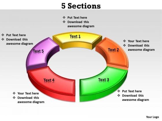 Business Diagram 5 Sections Sales Diagram