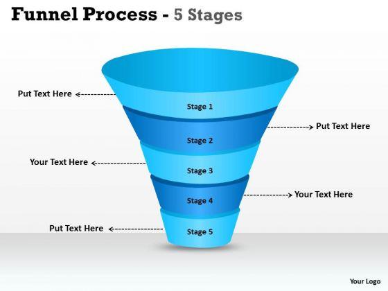 Business Diagram 5 Step Business Funnel Process Diagram Sales Diagram