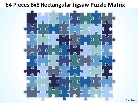 Business Diagram 64 Pieces 8x8 Rectangular Jigsaw Puzzle Matrix Sales Diagram