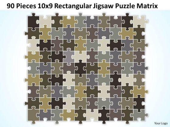 Business Diagram 90 Pieces 10x9 Rectangular Jigsaw Puzzle Matrix Sales Diagram