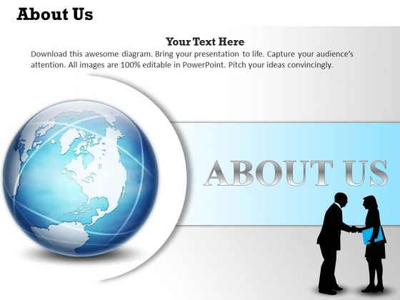 Business Diagram About Us Website Page Design Marketing Diagram