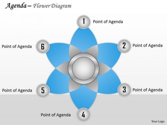 Business Diagram Agenda Flower Diagram Sales Diagram