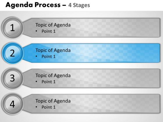 Business Diagram Agenda Process 4 Stages Marketing Diagram