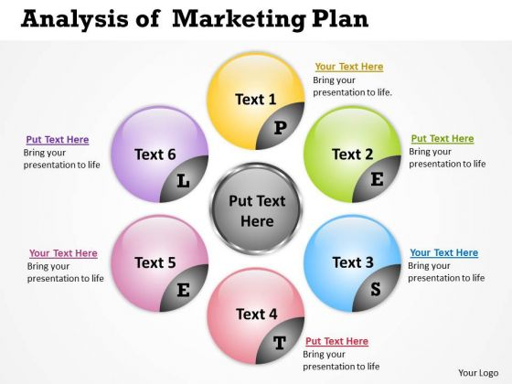 Business Diagram Analysis Of Marketing Plan Sales Diagram