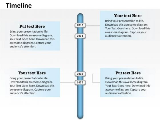 Business Diagram Annual Data On Timeline Roadmap Diagram Marketing Diagram