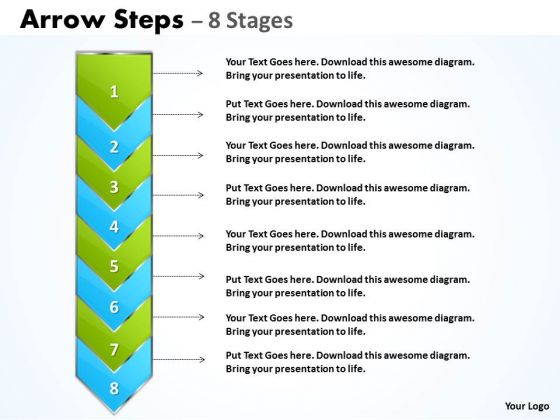 Business Diagram Arrow 8 Stages Diagram Marketing Diagram
