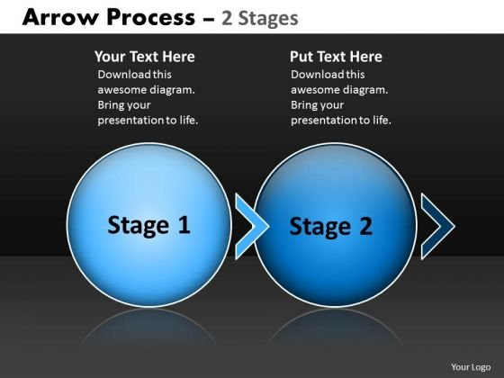 Business Diagram Arrow Process 2 Stage