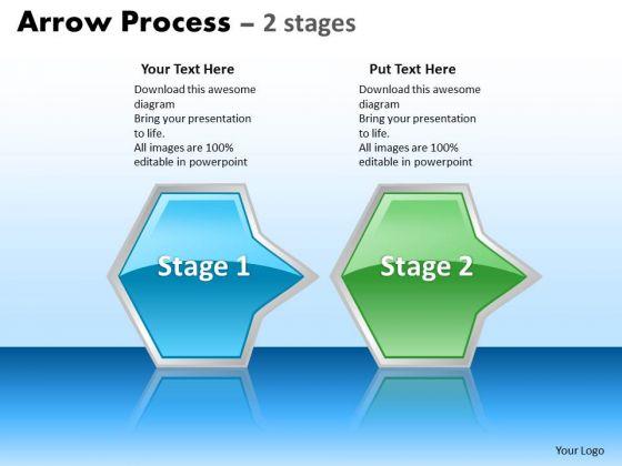 Business Diagram Arrow Process 2 Stages