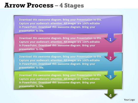 Business Diagram Arrow Process 4 Stages Marketing Diagram
