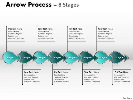 Business Diagram Arrow Process 8 Stages Strategic Management