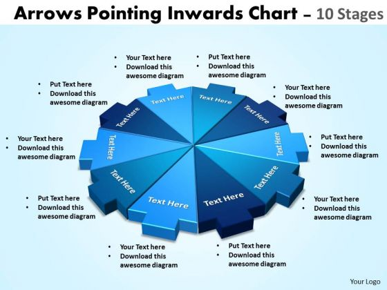 business_diagram_arrows_pointing_inwards_chart_10_stages_strategic_management_1