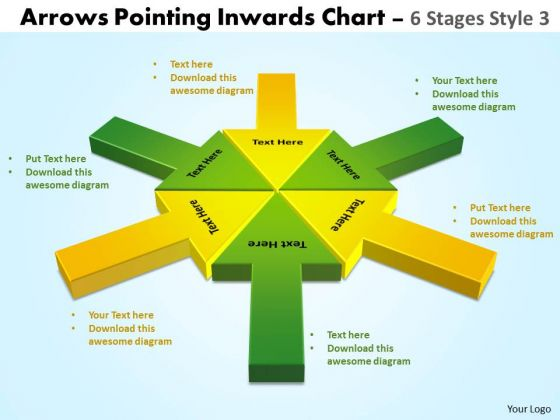 Business Diagram Arrows Pointing Inwards Chart 6 Stages Style 3 Strategic Management