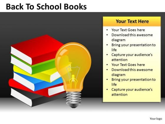 Business Diagram Back To School Books Consulting Diagram