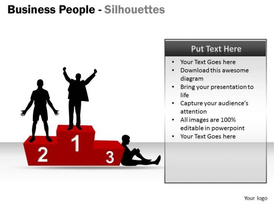 Business Diagram Business People Silhouettes Strategy Diagram