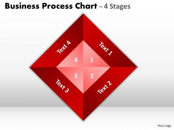 Business Diagram Business Process Chart 4 Stages Consulting Diagram