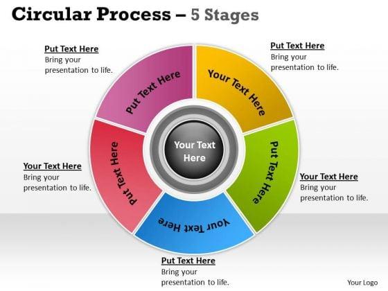 Business Diagram Business Project Management Process 5 Stages Sales Diagram