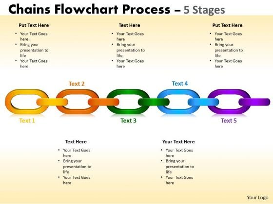 Business Diagram Chains Flowchart Process Diagram 5 Stages Business Cycle Diagram