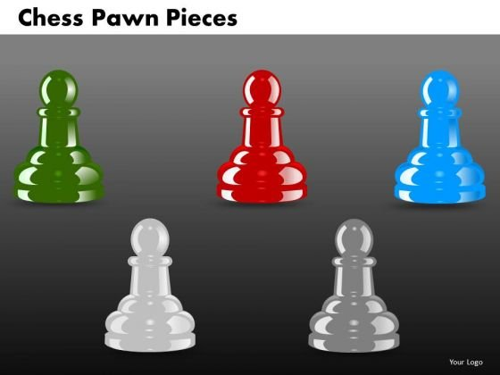 Business Diagram Chess Pawn Pieces Marketing Diagram