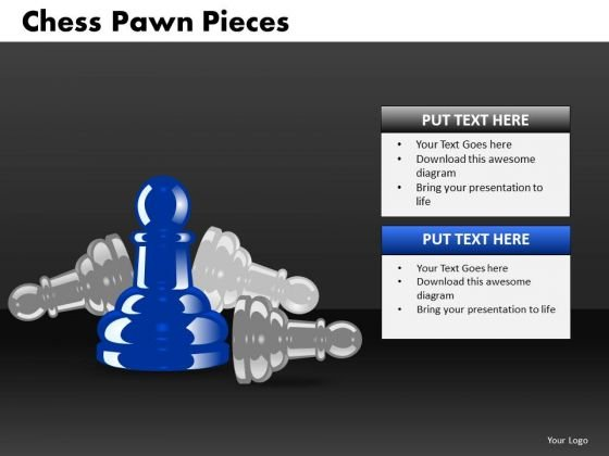 Business Diagram Chess Pawn Pieces Strategic Management