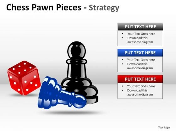Business Diagram Chess Pawn Pieces Strategy Sales Diagram