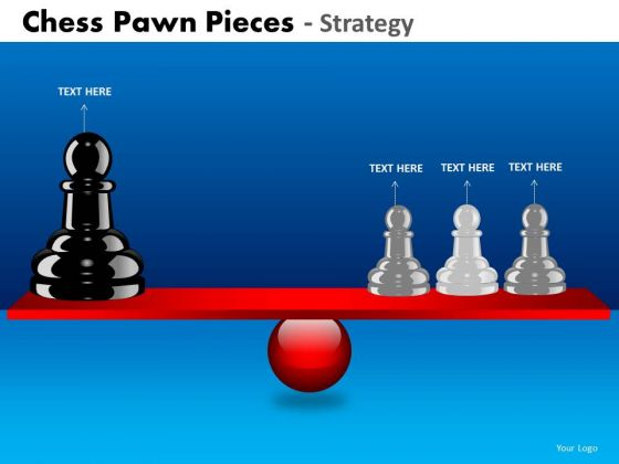 Business Diagram Chess Pawn Pieces Strategy Strategic Management